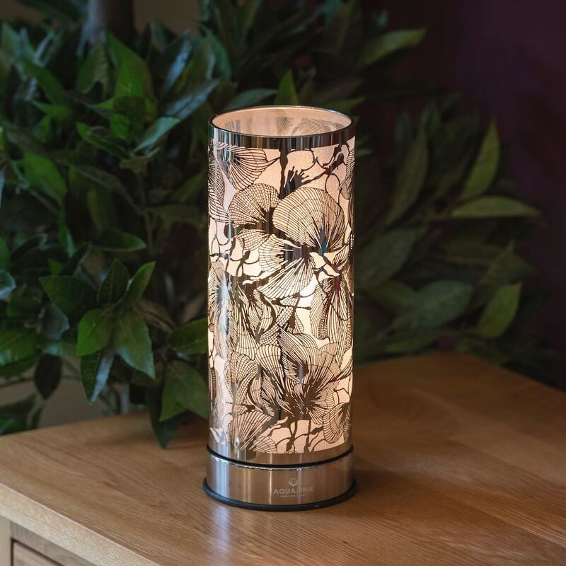 AQUALINA Aroma Touch Lamp Floral Chrome